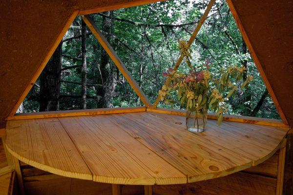 Inspiring View inside Tiny Dome Home