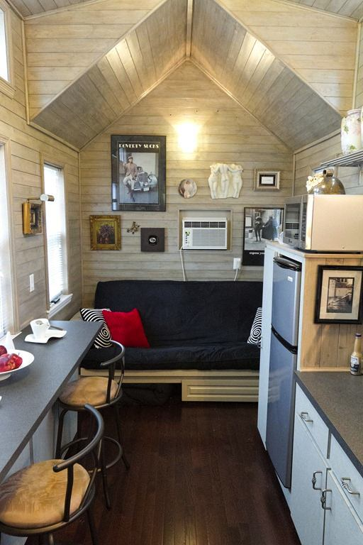 Interior Shot of Tiny Retirement House by Dan Louche of Tiny Home Builders