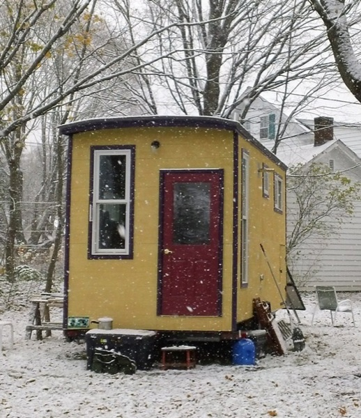 Jane's Solar Powered Tiny House with Composting Toilet, Food Storage and Bedroom (8)