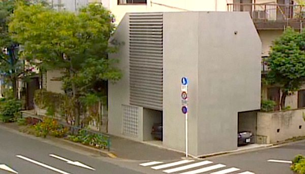 3 Story Tiny House that Fits in a Parking Spot in Japan