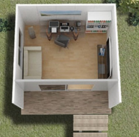 Layout of Joey - Backyard Office