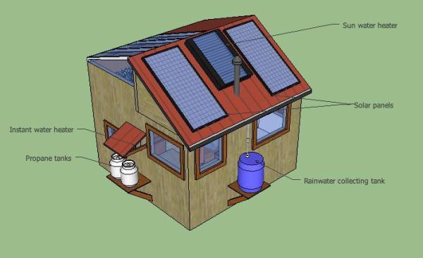 10k diy off grid solar tiny house jonathans off grid solar eco tiny house 002 sciox Images