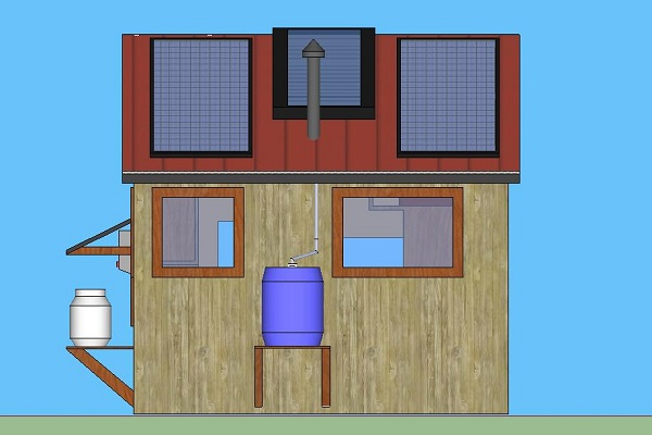 how to build a off grid solar hot water system