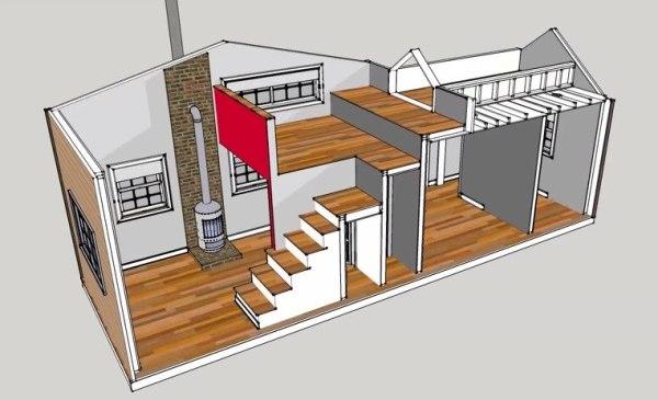300 Sq Ft 10 39 X 30 39 Tiny House Design