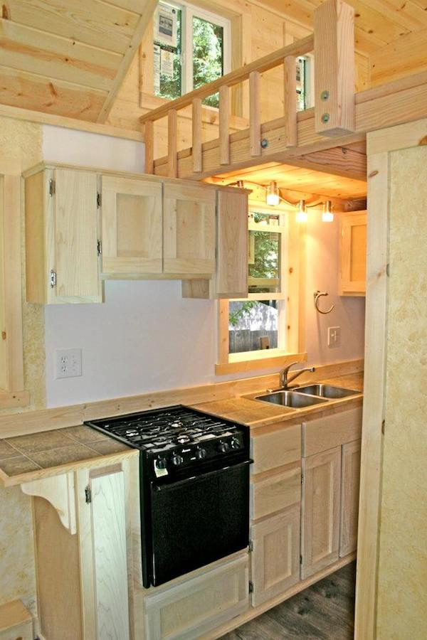 Kitchen in Molecule Tiny Home