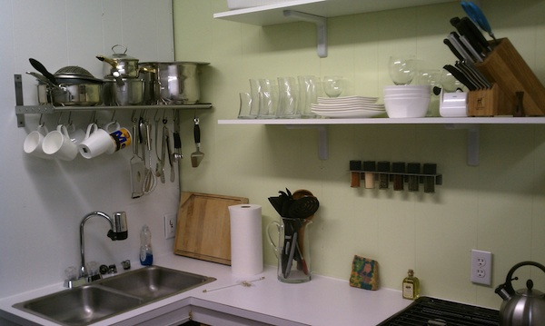 Kitchen in Shed, Workshop, Barn Conversion into Small/Tiny House