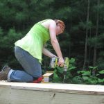Laura Lavoie building her tiny house