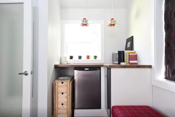 small kitchenette in tiny home