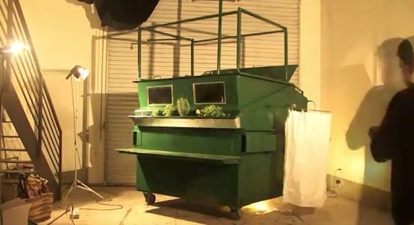 Luxurious Garbage Container Tiny House