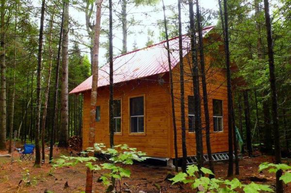 small cabin in the woods living the simple life off the grid. Black Bedroom Furniture Sets. Home Design Ideas