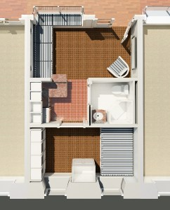 Floor Plan for Micro Apartment inside Mall