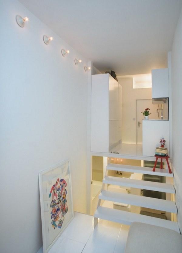 226 Sq Ft Minimalist Multi Level Apartment