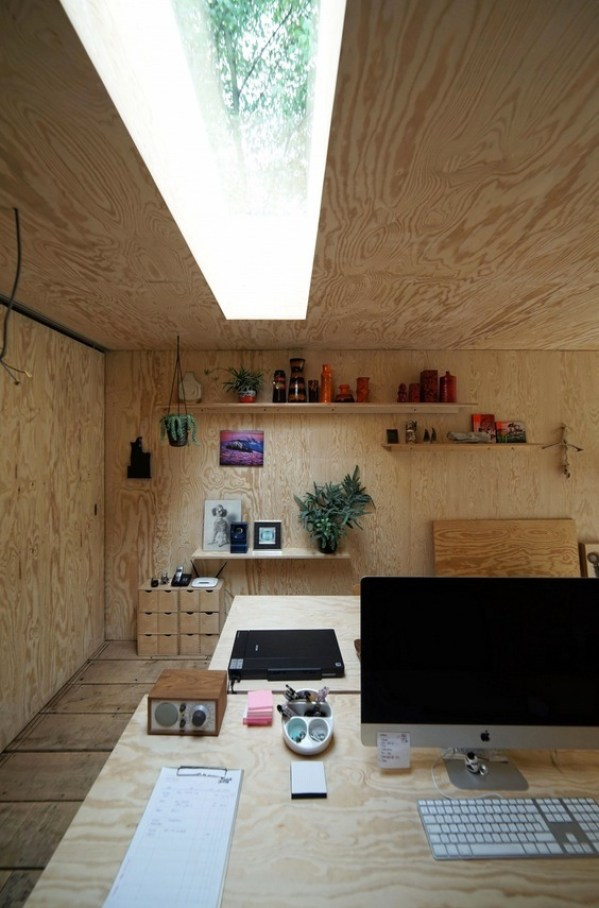 Plywood Interior Walls and Ceiling