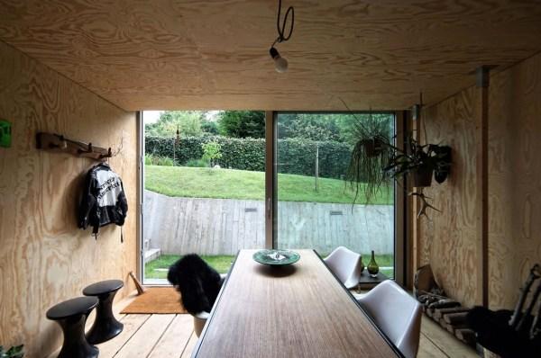 Sliding Glass Door to Backyard Cabin