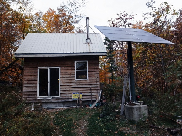 Off grid solar tiny cabin with yurt guest house tiny off grid solar cabin sciox Images