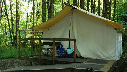 Stay In A Platform Tent At Dosewallips