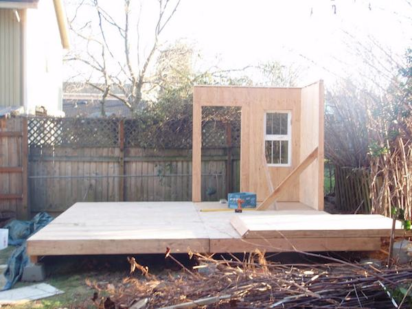 Prefab Tiny Cabin Coming Together