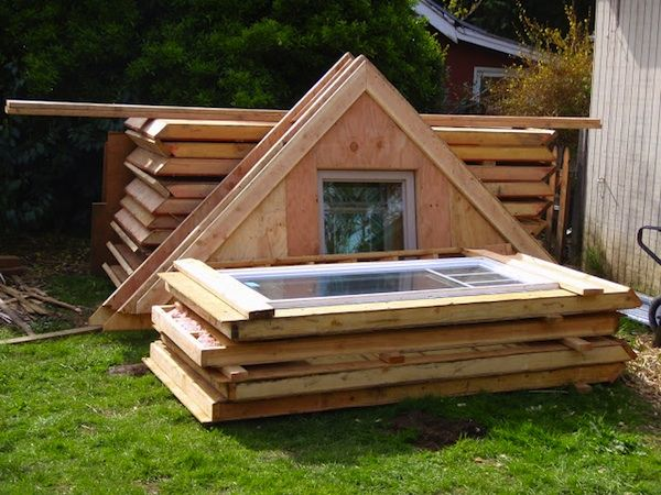 Prefab Tiny Cabin Disassembled and Ready for River Delivery