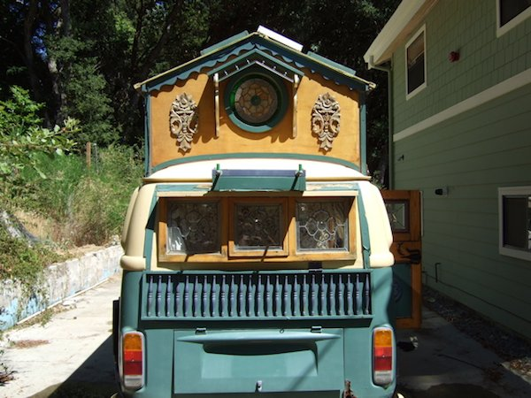 View from the Rear of Tiny House Bus
