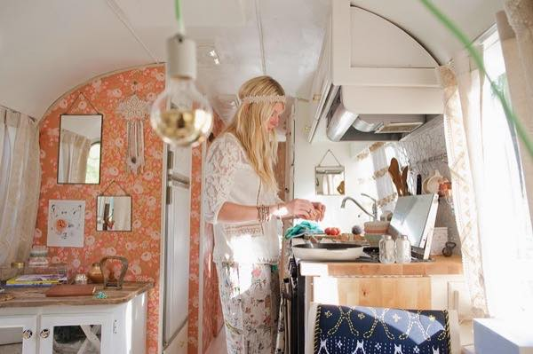 Woman S Airstream Renovation With Anthropologie