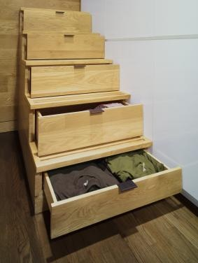 Stairs double as storage