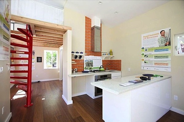 Kitchen Interior of Small House by New Avenue Homes