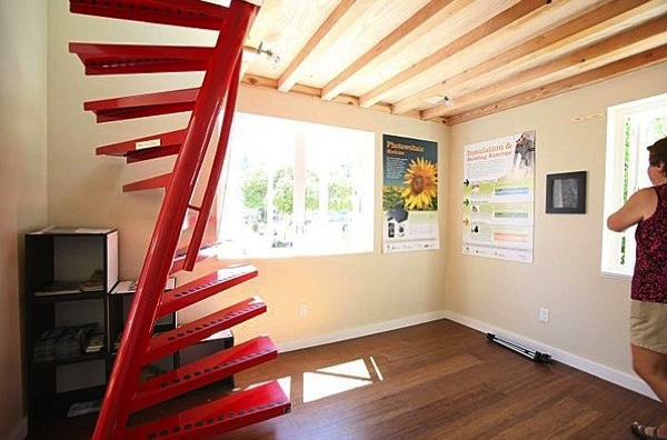Staircase and Living Area