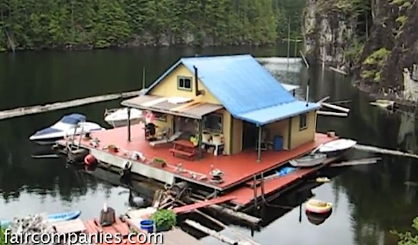 Small Off-grid Float Home in Coastal BC