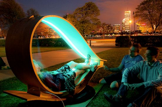 Soft Rocker - Lounge Chair that Generates Solar Energy for Your Electronics