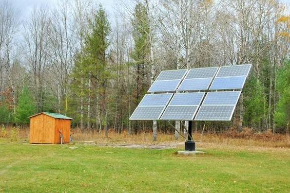 Solar Off-Grid Log Cabin on 20 Acres For Sale
