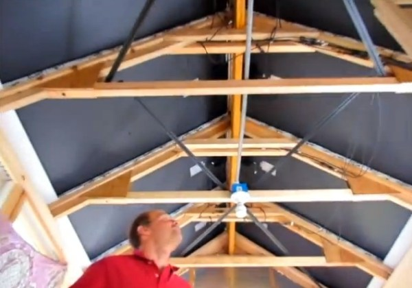 Solar Panels on Roof inside Tiny House Ceiling