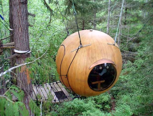 how to build a sphere tree house