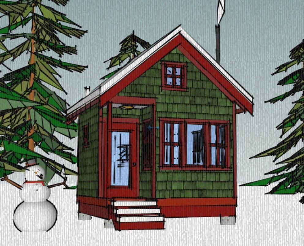 The borealis writer 39 s cabin 12 39 x12 39 tiny house plans for Tiny house design online