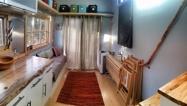 interior view of tiny home on wheels