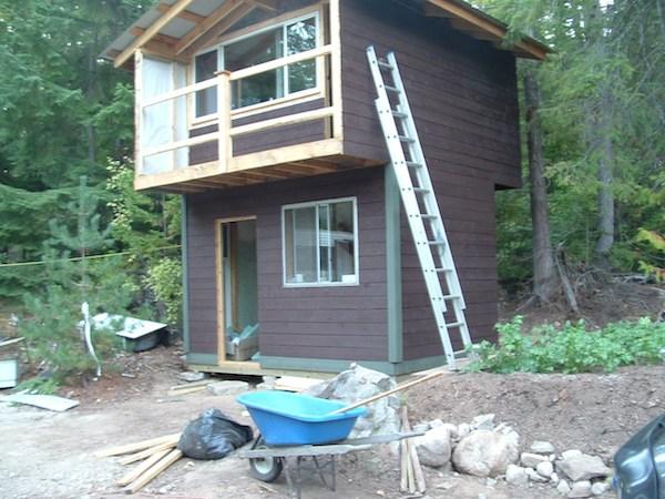 Tiny House with a Balcony