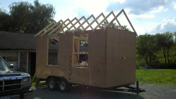Framed and Sheathed Tiny House