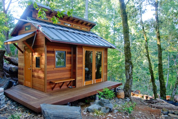 Tiny House in the Mountainous Woods