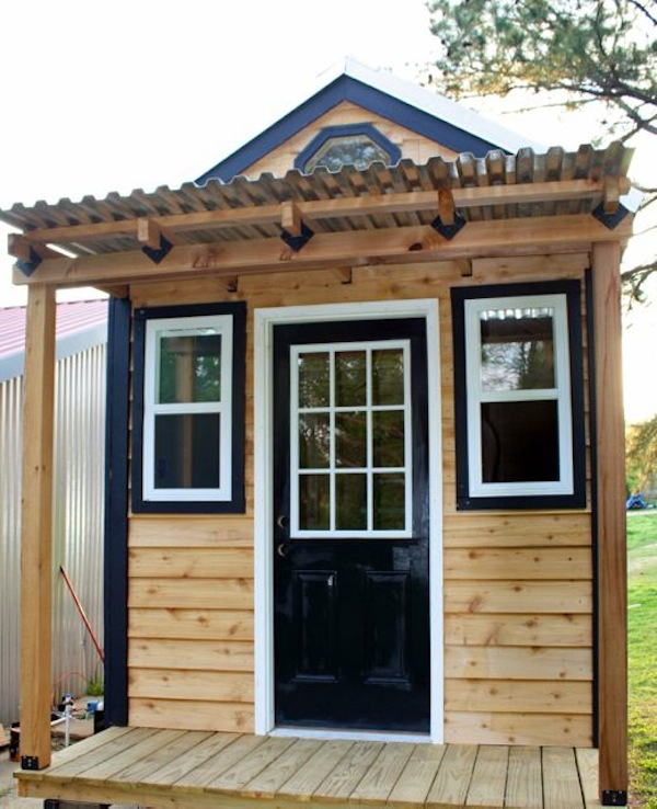 tiny house on wheels with front porch