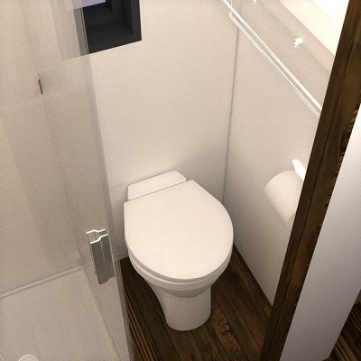 Bathroom Toilet in the Nook Tiny House