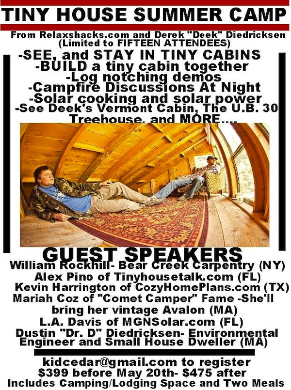 Details for Tiny House Summer Camp in Vermont with Deek