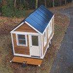 Tiny House with Solar Roof Panels