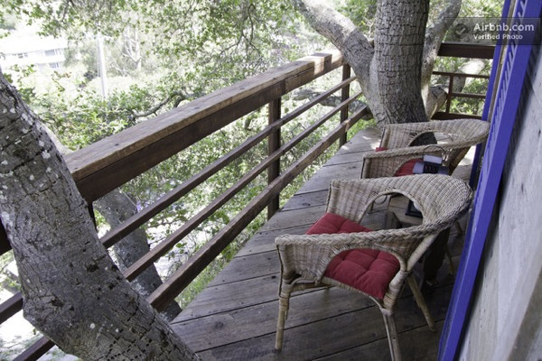 Relaxing Porch in Tiny Treehouse
