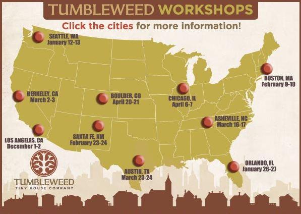 Tumbleweed Tiny House Workshops Sale