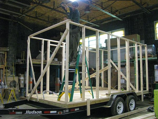 Wall Framing for Aldo Lavaggi's Tiny House on a Trailer Project