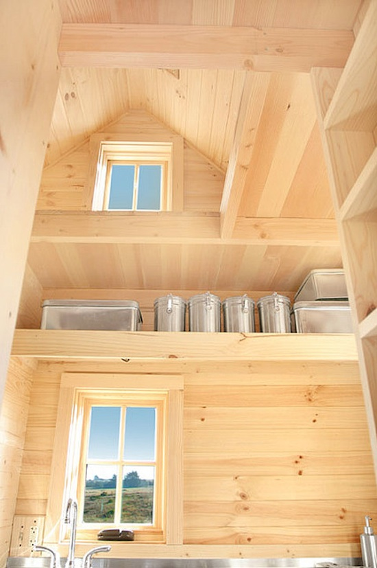 Tiny House Storage and Shelves in the Weebee