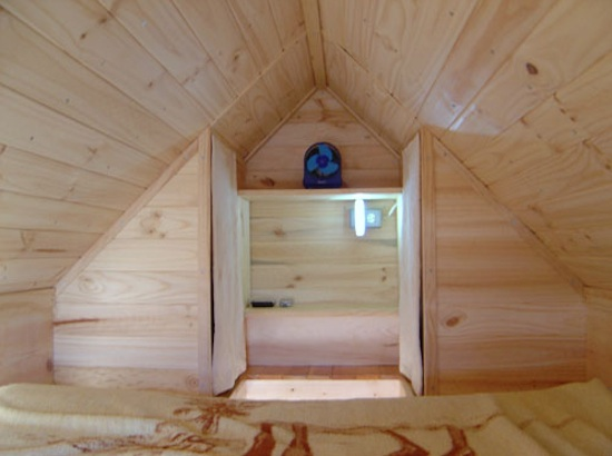 Sleeping Loft in the XS Tiny House