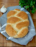 Garlic and herb plaited bread
