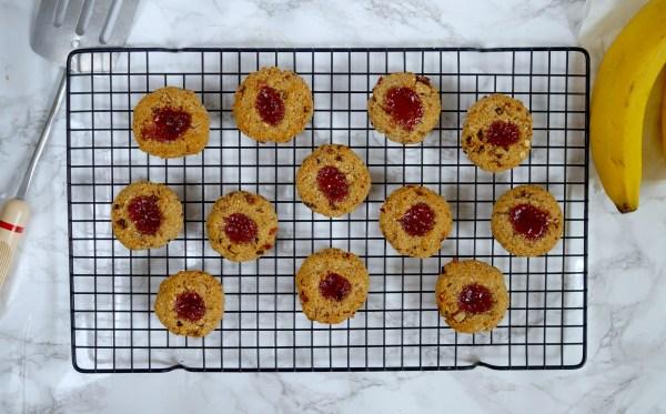 vegan thumbprintcookies