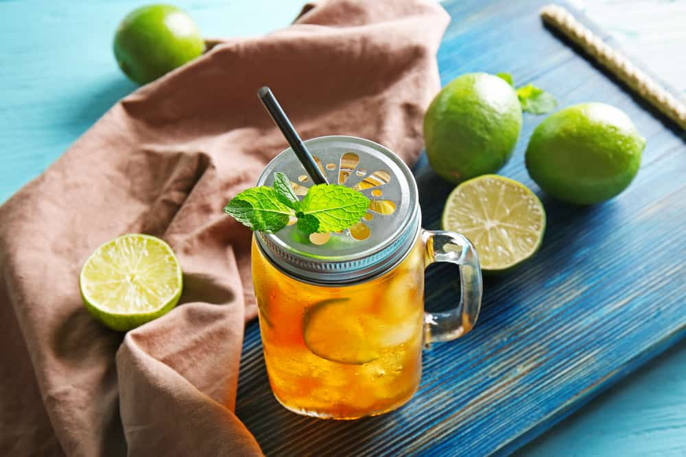 Lime Apple Juice Iced Tea