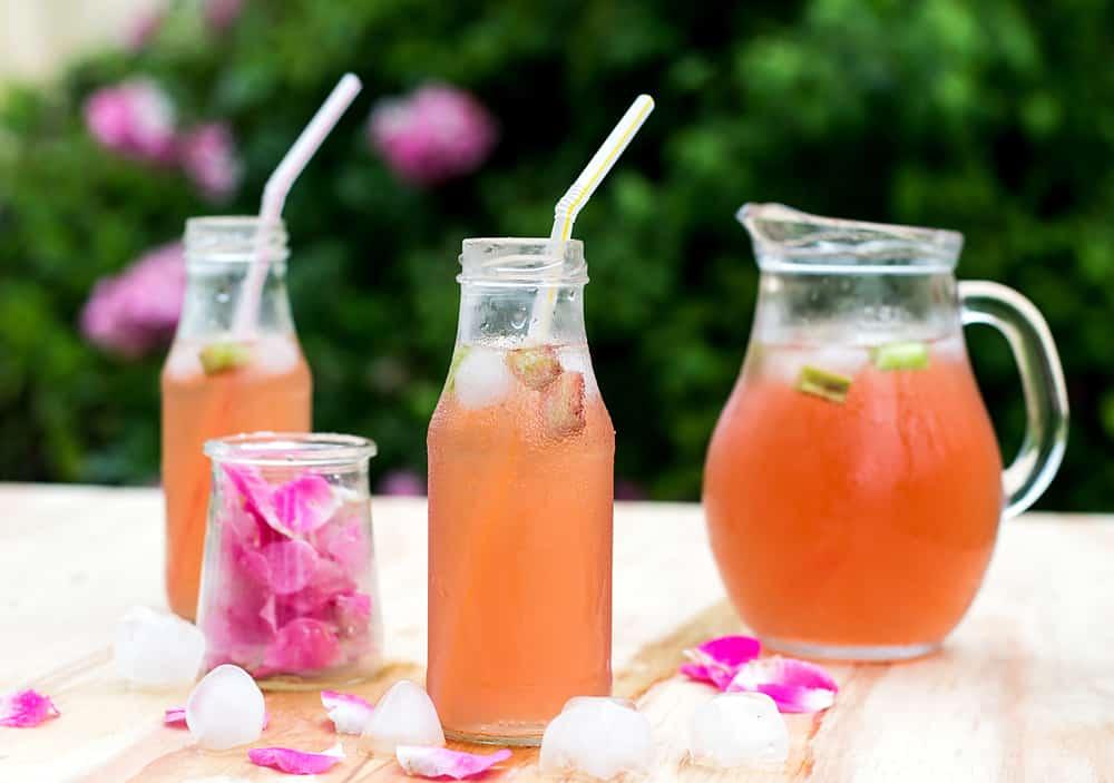 Rhubarb Hibiscus Iced Tea